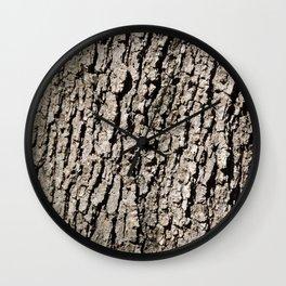 TEXTURES - Valley Oak Tree Bark Wall Clock