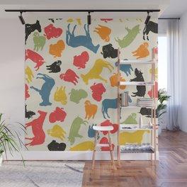 Farm animals seamless pattern Wall Mural