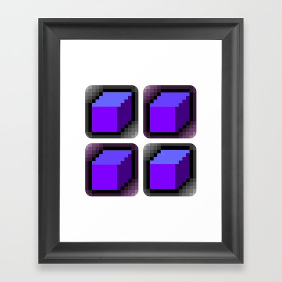 Cube x 4 = Framed Art Print