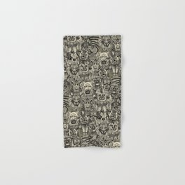 gargoyles vintage black Hand & Bath Towel