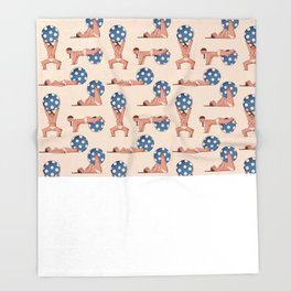 Almost Naked Sporty Chubbies Throw Blanket