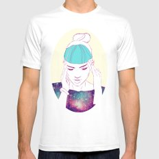 GRIMES Mens Fitted Tee White MEDIUM