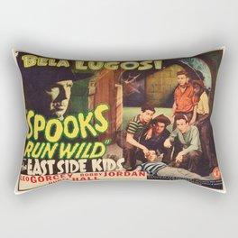 Spooks Run Wild, Bela Lugosi, vintage movie poster Rectangular Pillow