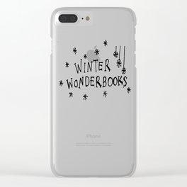 WINTER WONDERBOOKS (BLACK) Clear iPhone Case
