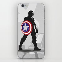 bucky barnes iPhone & iPod Skins featuring Bucky Barnes by Samantha Panther