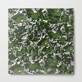 Jungle Green Modern Multi Camo Pattern Camouflage Metal Print