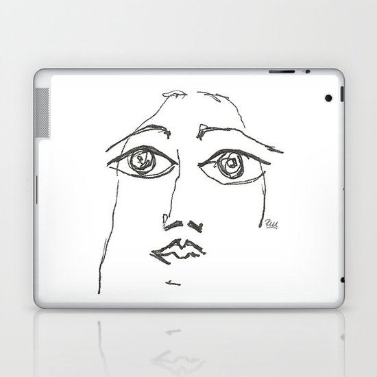 Woman gazing Laptop & iPad Skin