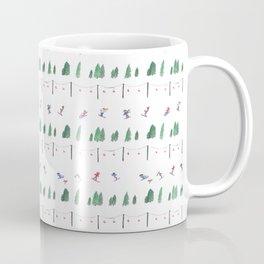 Winter Ski Print Coffee Mug