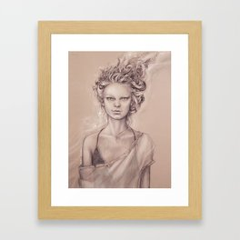 Another day in the hair chair Framed Art Print