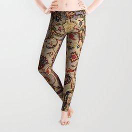 Safavid Silk Metal-Thread Persian Rug Print Leggings