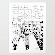 floating flowers Art Print