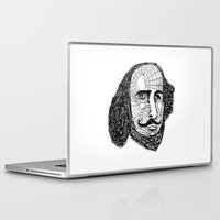 shakespeare Laptop & iPad Skins featuring William Shakespeare by Feld Sprucetree