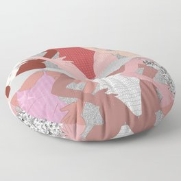My Thighs Rub Together & I'm OK With That - Positive Body Image Digital Illustration Floor Pillow