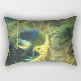 Mina like Medusa with gold,blue and green hair Rectangular Pillow