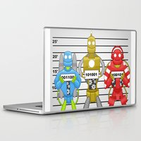 robots Laptop & iPad Skins featuring Robots by charlie usher