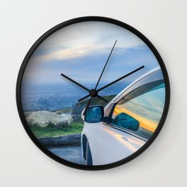 Reflections of a Sunset Wall Clock