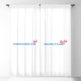 congratulations , it`s aborted! Blackout Curtain