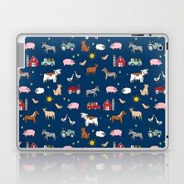 Farm animals nature sanctuary cow pig goats chickens kids gender neutral Laptop & iPad Skin