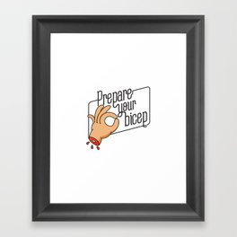 The Circle Game / Cutted Hands Framed Art Print