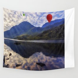 Balloon Flight At Sunrise Wall Tapestry