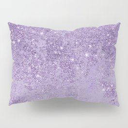 Modern elegant lavender lilac glitter marble Pillow Sham