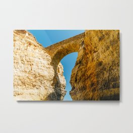 Stone Bridge Over Rock Formations In Lagos, Wall Art Print, Landscape Art, Poster Decor, Large Print Metal Print