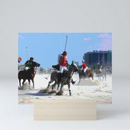 Polo Ponies on Miami Beach Mini Art Print