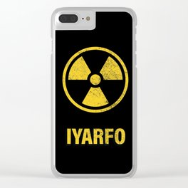 IYARFO CAUTION Clear iPhone Case