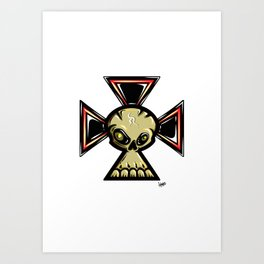 Skull Cross Art Print