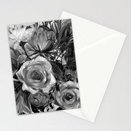 Bella Rose Black and White Stationery Cards