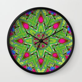 Abstract Flower AAA QQ B Wall Clock