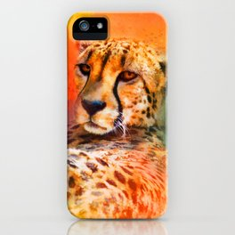 Colorful Expressions Cheetah iPhone Case
