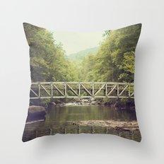 Horsepasture Bridge Throw Pillow