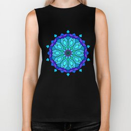Colored round Arabic mandala Biker Tank