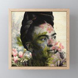 Flowered Frida Kahlo Framed Mini Art Print
