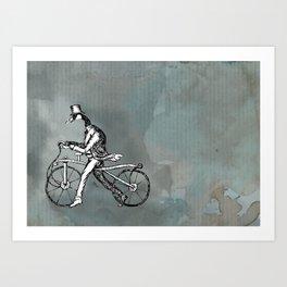 Goose Ride Art Print