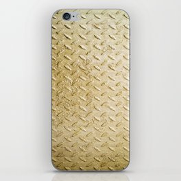 Gold Painted Metal Stylish Design iPhone Skin