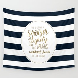 Strength, Dignity, and Stripes Wall Tapestry