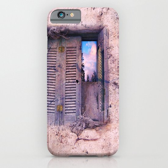 SOUL WINDOW - conceptual composing with old wall and open window iPhone & iPod Case