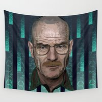 architect Wall Tapestries featuring Braking Bad - The Architect - Walter White by milanova