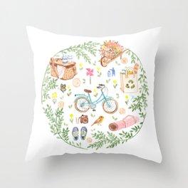 Eco city style Throw Pillow