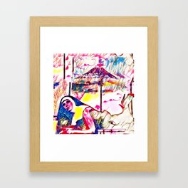 The Sin Eruption Framed Art Print