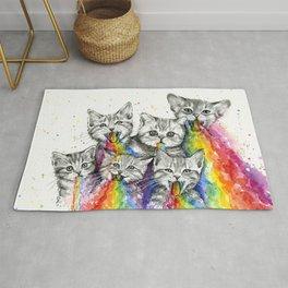 Kittens Puking Rainbows Rug