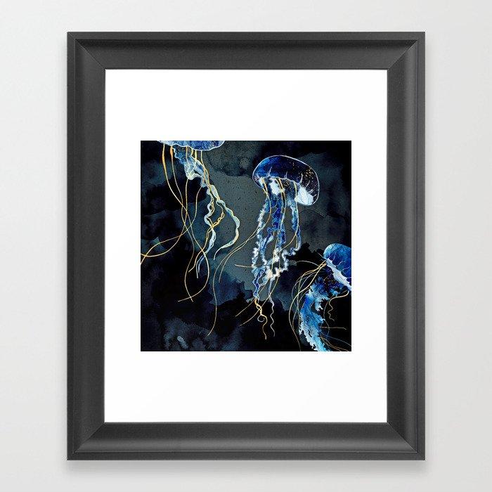 Metallic Ocean III Gerahmter Kunstdruck
