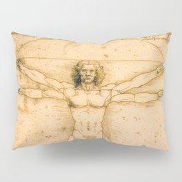 Vitruvian Man by Leonardo da Vinci Pillow Sham
