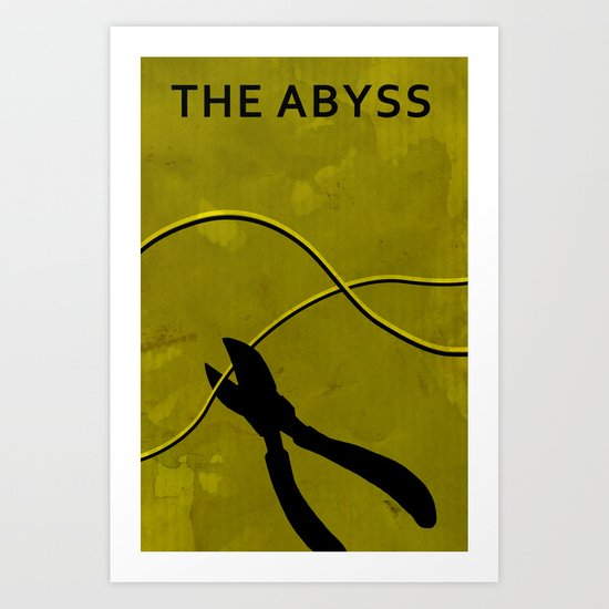 The Abyss Minimal Movie Poster (One Way Trip) Art Print