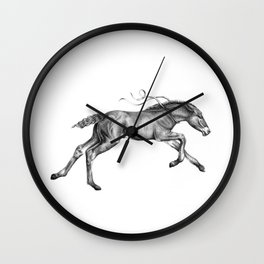 Contra viento /Running horse Wall Clock