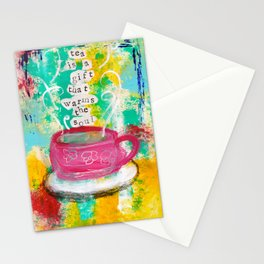 Tea is a Gift that Warms the Soul Stationery Cards