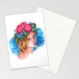Myosotis - the flower girl Stationery Cards