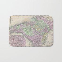 Vintage Map of India (1853) Bath Mat